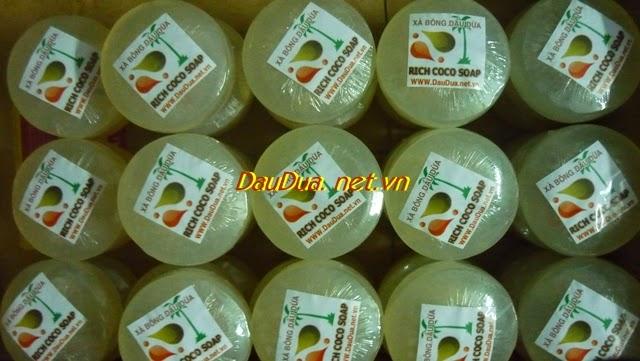 XÀ BÔNG DẦU DỪA COCONUT OIL SOAP  VÀ HOẠT ĐỘNG GIAO HÀNG CTY BE THE RICH THÁNG 5-2014